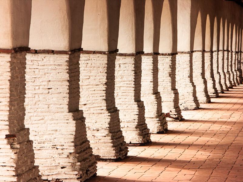 Arches, Mission San Juan Bautista, California, 2006