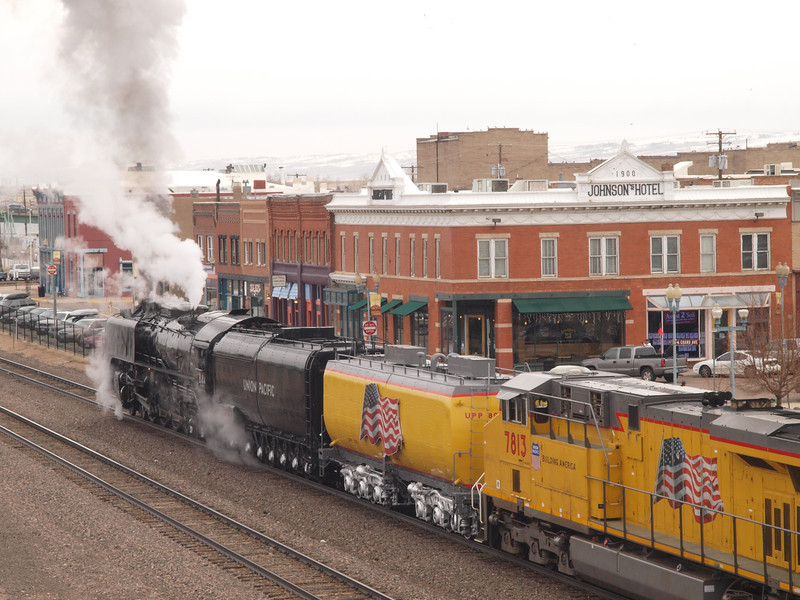 Engine 844 visits Laramie
