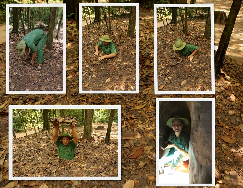 Cu Chi Tunnels demonstrated...