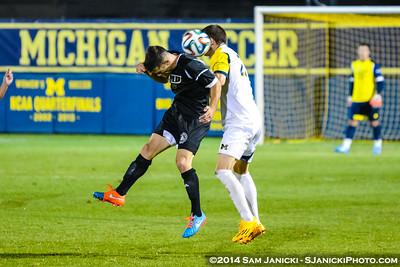 OT from UM Men's Soccer Vs Western Michigan 10-1-14