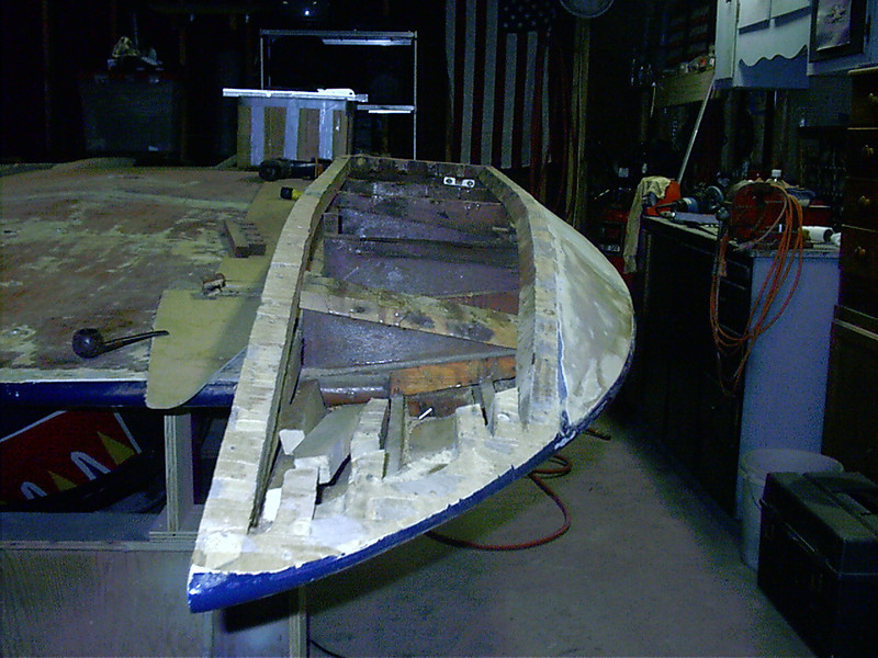 Another photo of starboard sponson.