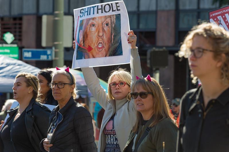 Women's March, Los Angeles.