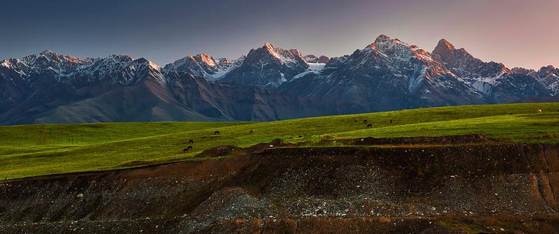 China, Xinjiang, Tangbra Grasslands, Tianshan Mountains, Du-Ku Highway, Fall Colors, 新疆, 天山, 唐布拉草原, 秋色
