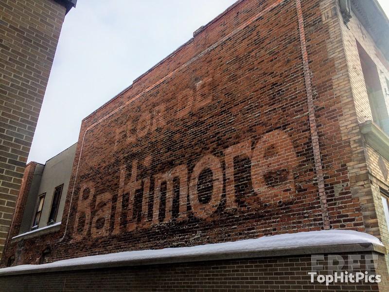 'Flor De Baltimore' Cigar Brand Ghost Sign in Butte, Montana, USA