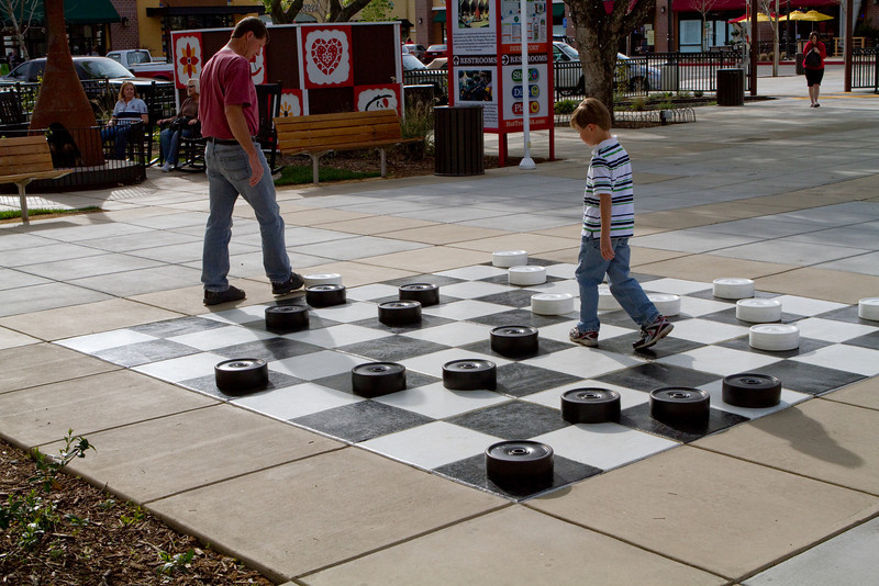 Giant game pieces