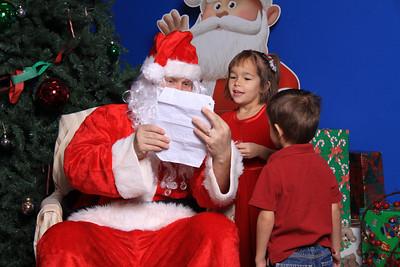 Zaharis Elementary Santa visit 2009