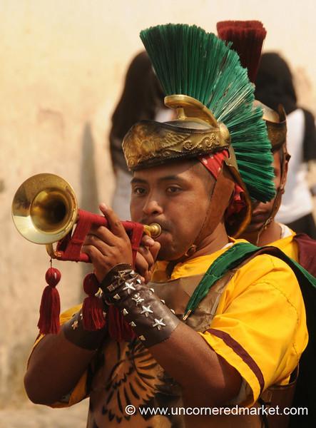 Roman Soldier Actor, Semana Santa - Antigua, Guatemala