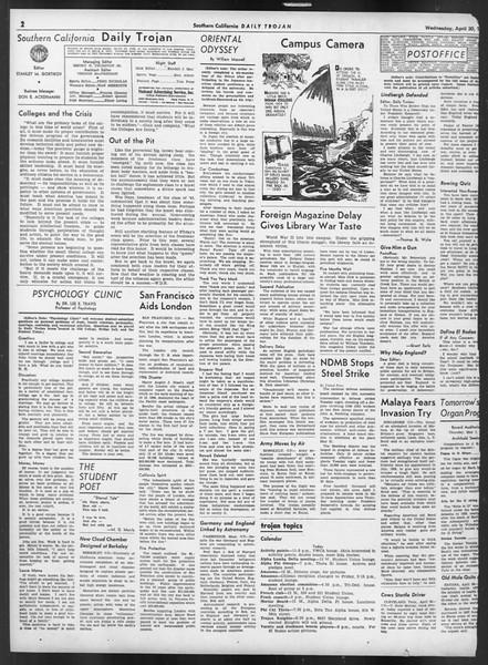 Daily Trojan, Vol. 32, No. 131, April 30, 1941