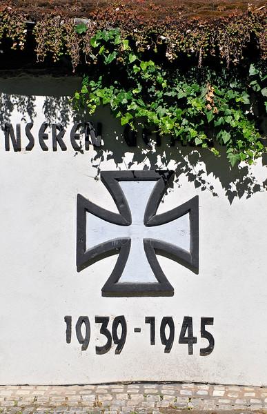 Iron Cross at Church of St. Barbara by Hundertwasser in Barnbach