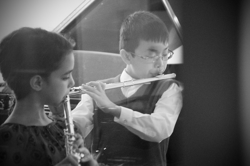 2013.05.18 - flute ensemble. Mikayla and Taimen.