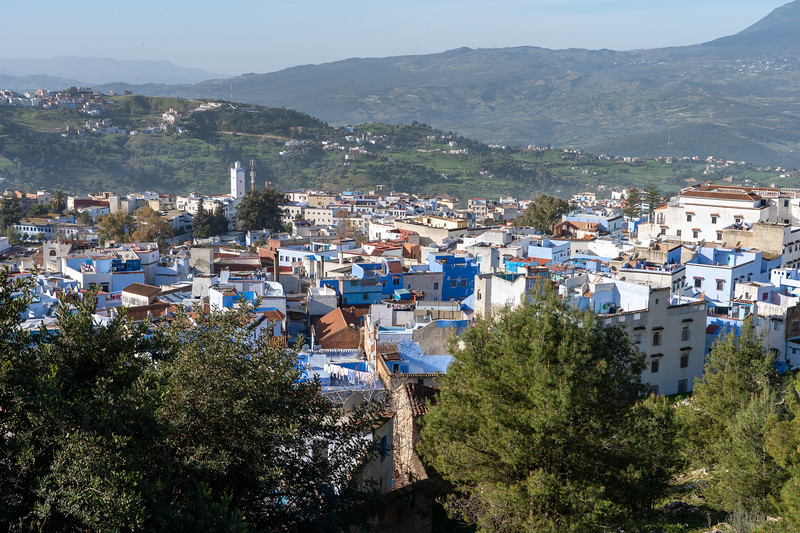 Chefchaouen, Morocco from above