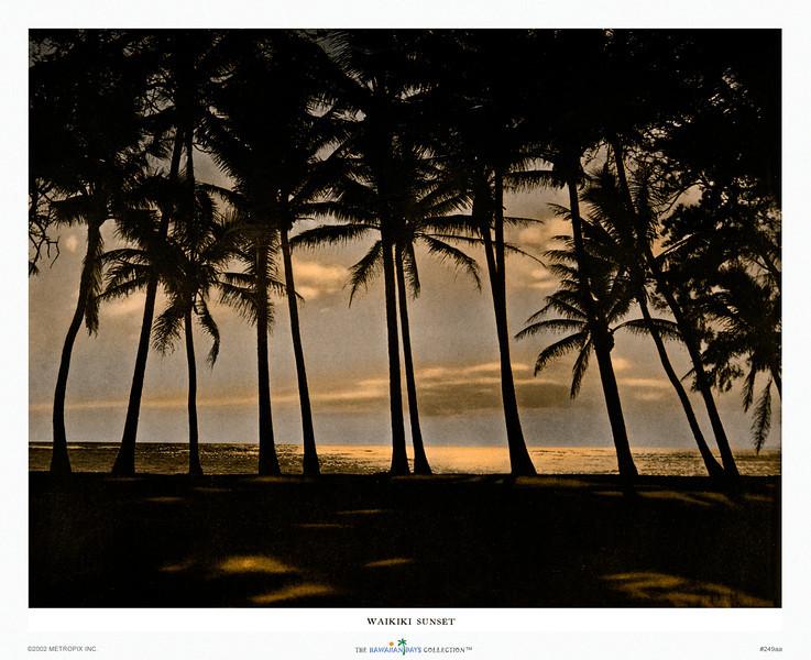 249: 'Waikiki Sunset' Paradise of the Pacific Magazine Photo. Ca 1932.