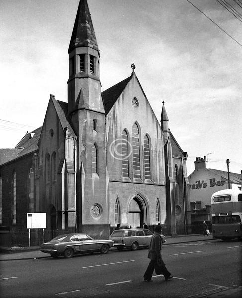 Westmuir St.   Parkhead Congregational Church (R. Baldie, 1879), still going strong.