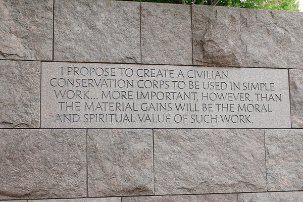 FDR and MLK Memorials May 2019