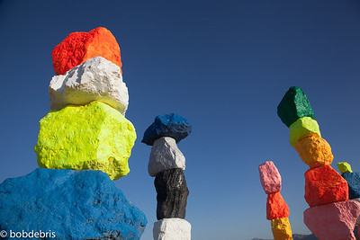 SEVEN MAGIC MOUNTAINS  BY UGO RONDINONE