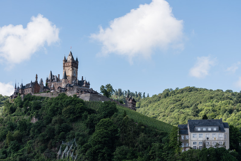 Day 10 - last look at Reichburg Cochem as seen from Zehnthof (A+ family-run hotel), July 13th