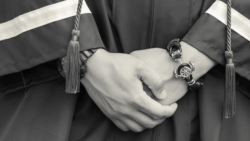Cap and Gown (b&w)