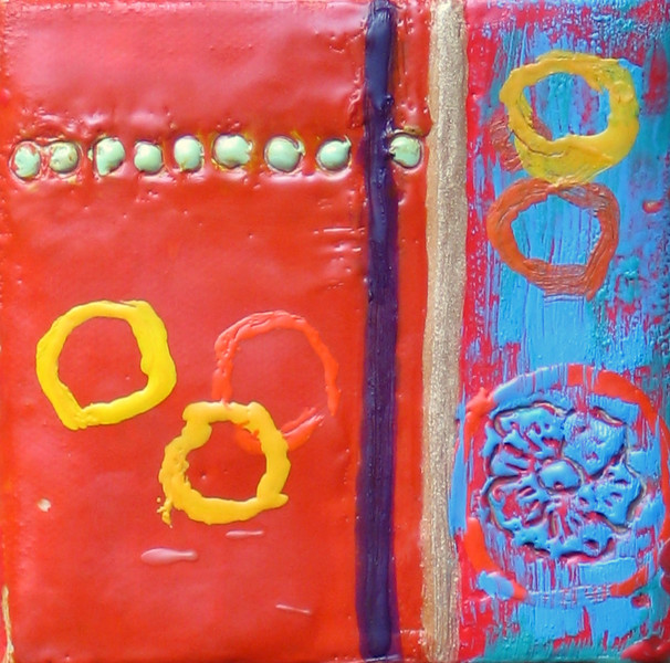 "2006  4""x4""  encaustic on canvas"