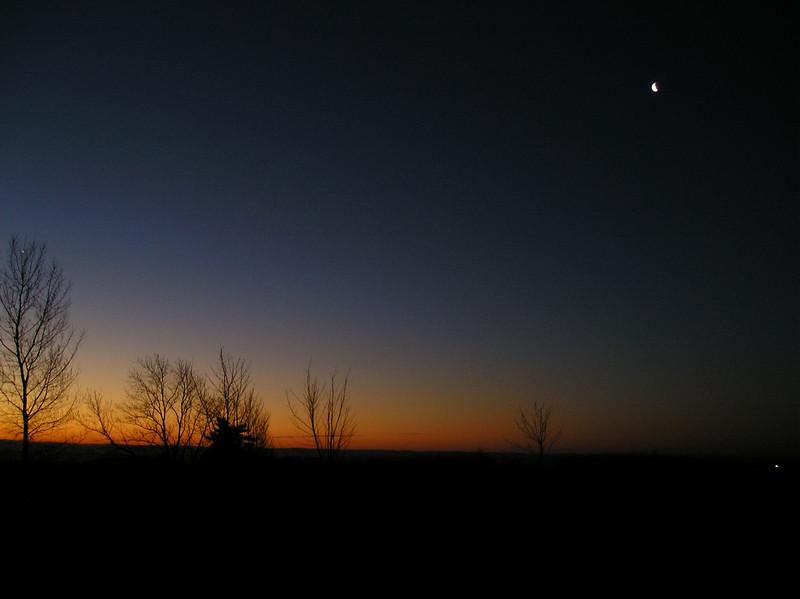 Moon & Venus before dawn - Jim and Renee Klueber OLYMPUS DIGITAL CAMERA