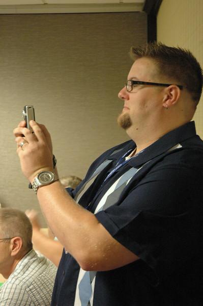 Dan Doering snaps a pic