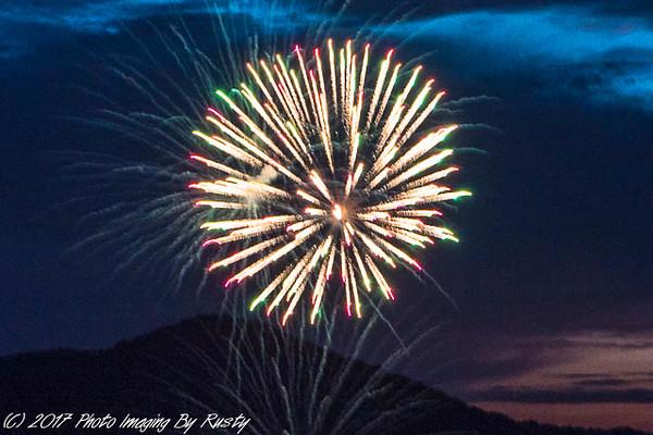 Lake Rabun July Fireworks - 7-2-17