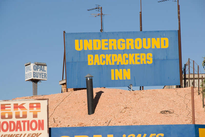 Underground Backpacker Sign - Coober Pedy, South Australia