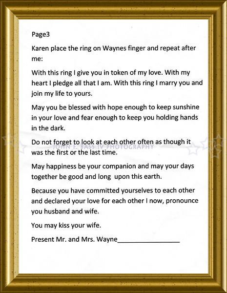 MR.MRS.KARIN WAYNE WEDDING DAY