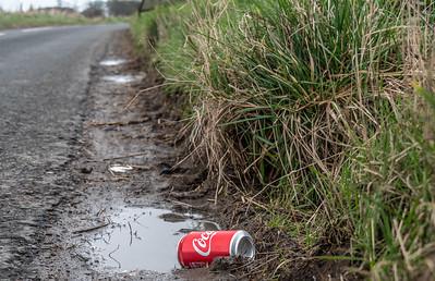 Scotland - Rubbish by the roadside