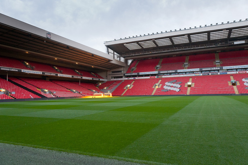 The Anfield Stadium in Liverpool, England