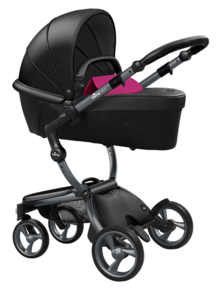 Mima_Xari_Product_Shot_Black_Flair_Graphite_Chassis_Hot_Magenta_Carrycot.png