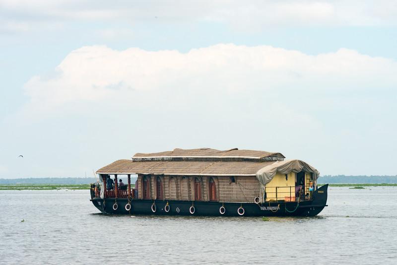 Beautiful Kerala houseboats on Kumarakom Lake. Vivanta by Taj - Kumarakom is a Tropical, lakefront 19th-century hotel with a lagoon , dining & an Ayurvedic spa with swiming pool. Set in a colonial-era bungalows on the shores of Kumarakom Lake, this upscale hotel is built around a central lagoon, with the lake on one side and Pathiramanal island bird sanctuary adjoining it. Located at: Kumarakom, Kavanattinkara, Kottayam, Kerala, India