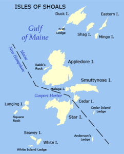 map of the isles of shoals
