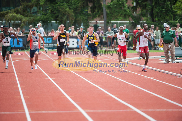 BIG10 100M Men Final - 2015 Big Ten Outdoor