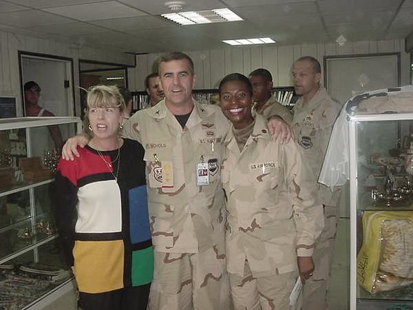 Col Nichols, Major Jones and Patty.JPG