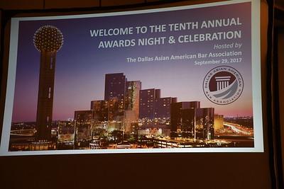 9-29-2017 DAABA 10th Annual Awards Night & Celebration @ Hyatt Regency-Dallas