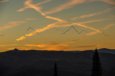 Castle Peak, CO at sunset