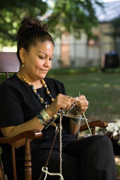 Maude Joe - Cowichan Knitter