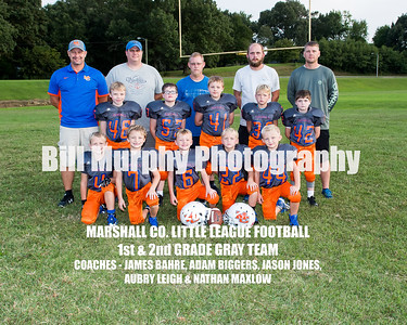 2017 1st & 2nd Grade Gray Team, Marshall Co. Little League Football