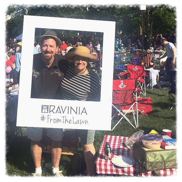 A perfect spot on a perfect night for Lady Gaga and Tony Bennet at @raviniafestival #FromTheLawn