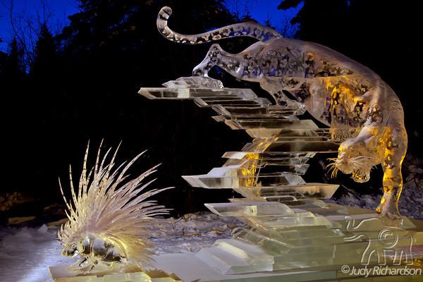 Fairbanks Multi-Block World Ice Sculpture~2012