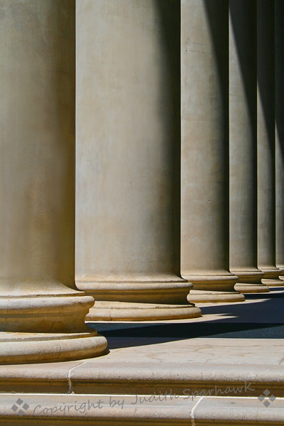 The Chapel Columns ~ Architectural detail of the Memorial Chapel, University of Redlands
