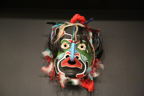 Canadian Native Art Masks Gallery, Vancouver, Canada - May, 2014