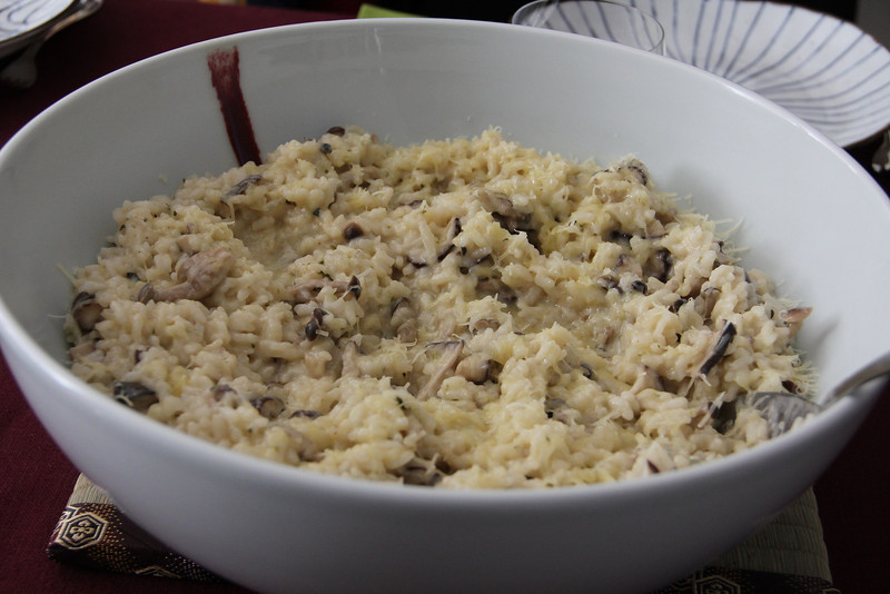 Mediterranean Cooking Class February 24, 2012: Mixed Mushroom Risotto