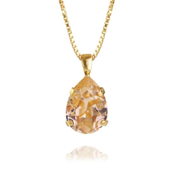 Mini Drop Necklace / Light Peach Gold