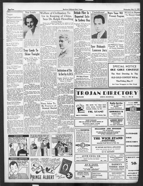 Daily Trojan, Vol. 26, No. 137, May 15, 1935
