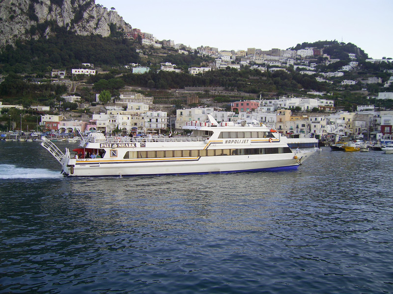 2007 - NAPOLI JET arriving to Capri.