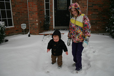Courtney and Cody in the Snow - January 2010