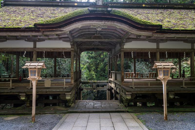 Yuki jinja shrine in Kurama