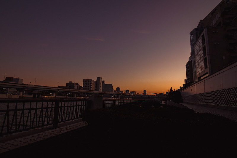 Sunset Over the Sumida River
