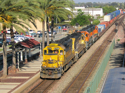 BNSF freight train at Fullerton, California